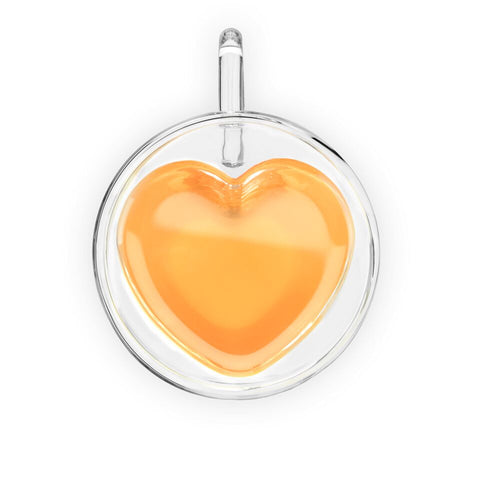 Kendall Heart Shaped Double Walled Glass Tea Mug by Pinky Up - Planning Pretty
