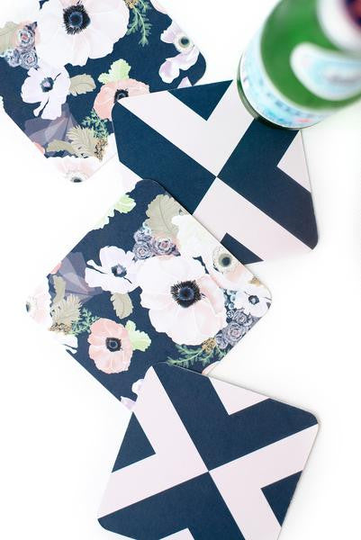 Flower Party Coasters - Planning Pretty