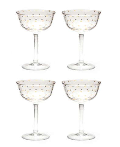 Soiree Glass Fluted Coupe - Planning Pretty