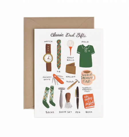 Classic Dad Gifts Card by Rifle Paper Co - Planning Pretty