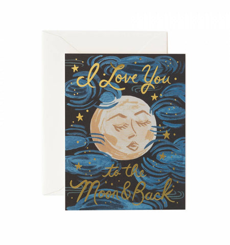 I Love You To The Moon Card - Planning Pretty