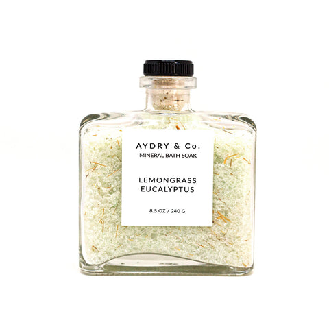 Lemongrass Eucalyptus Mineral Bath Soak by Aydry & Co.