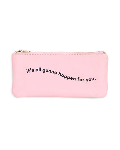 Gonna Happen For You Pencil Pouch by ban.do - Planning Pretty