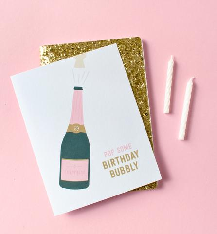 Birthday Bubbly Greeting Card by Graphic Anthology - Planning Pretty