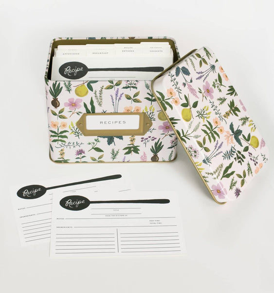 Herb Garden Recipe Box & Cards - Planning Pretty