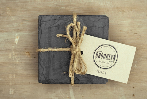 Slate Beverage Coasters by Brooklyn Slate Company - Planning Pretty
