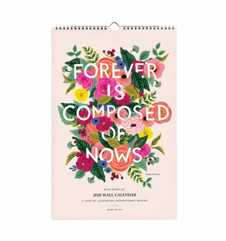 2018 Inspirational Wall Quote Calendar