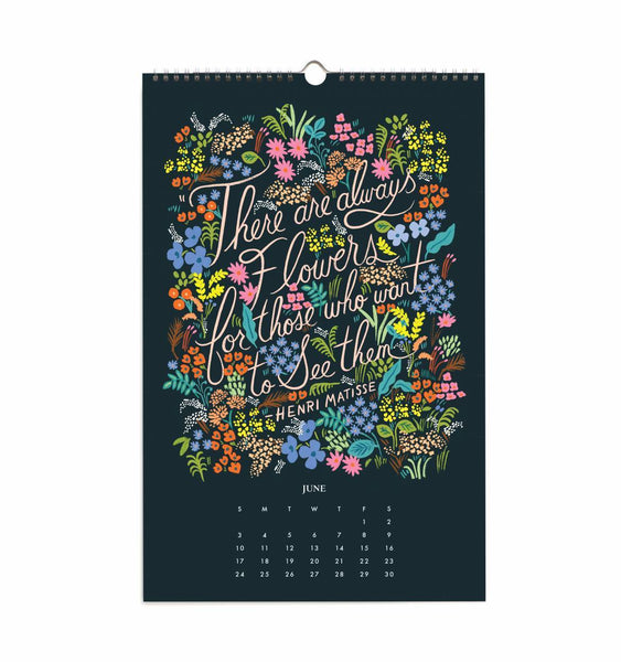 2018 Inspirational Wall Quote Calendar - Planning Pretty