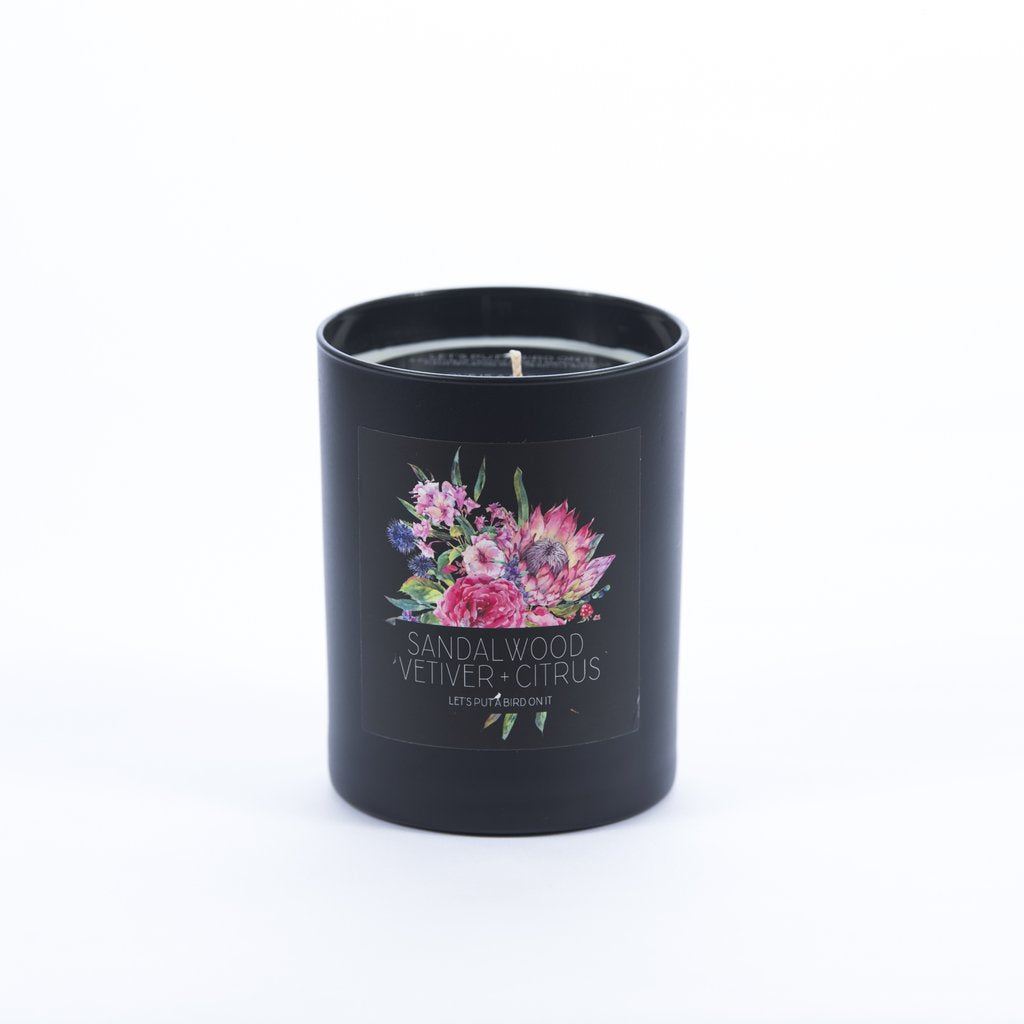 Sandalwood Vetiver Candle by Let's Put A Bird On It - Planning Pretty