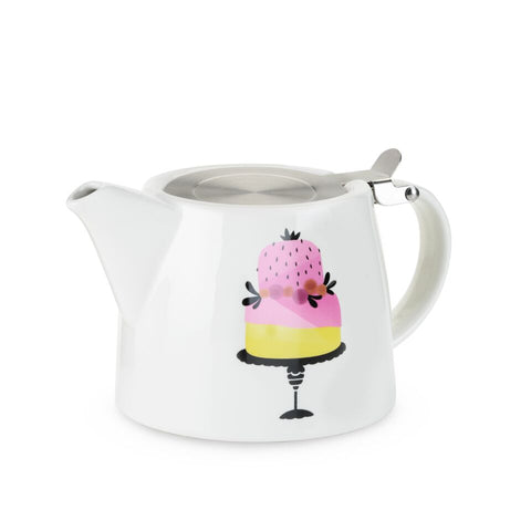Piece of Cake Ceramic Teapot & Infuser by Pinky Up - Planning Pretty