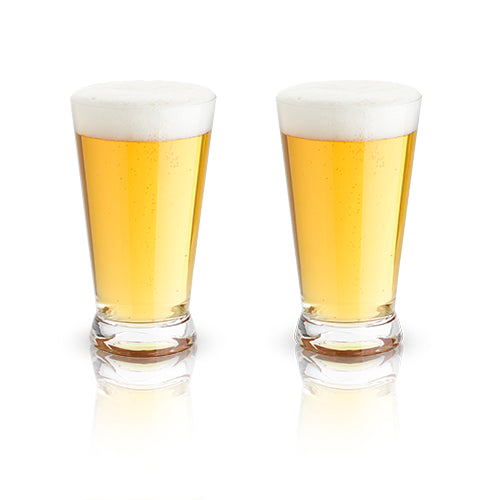 Crystal Beer Pint Glasses by Viski - Planning Pretty