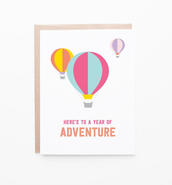 Year of Adventure Birthday Card by Graphic Anthology - Planning Pretty