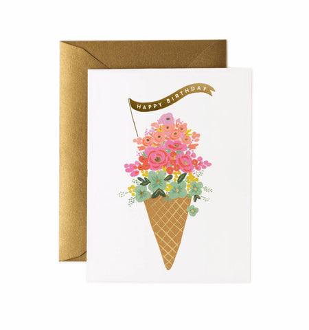Ice Cream Birthday Card by Rifle Paper Co - Planning Pretty