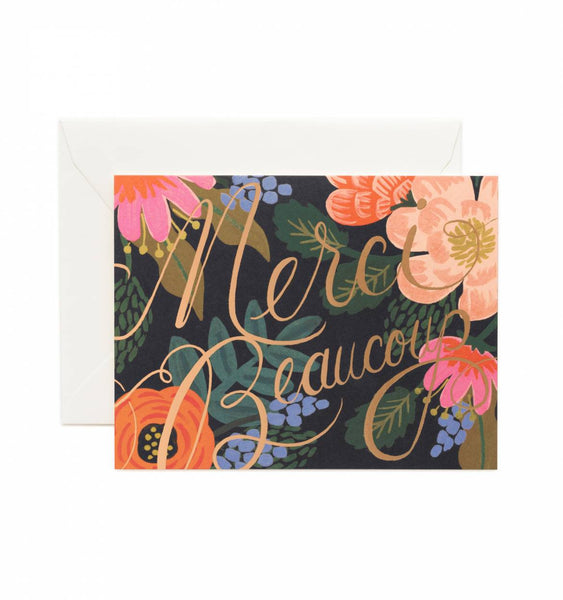 Merci Beaucoup Greeting Card - Planning Pretty