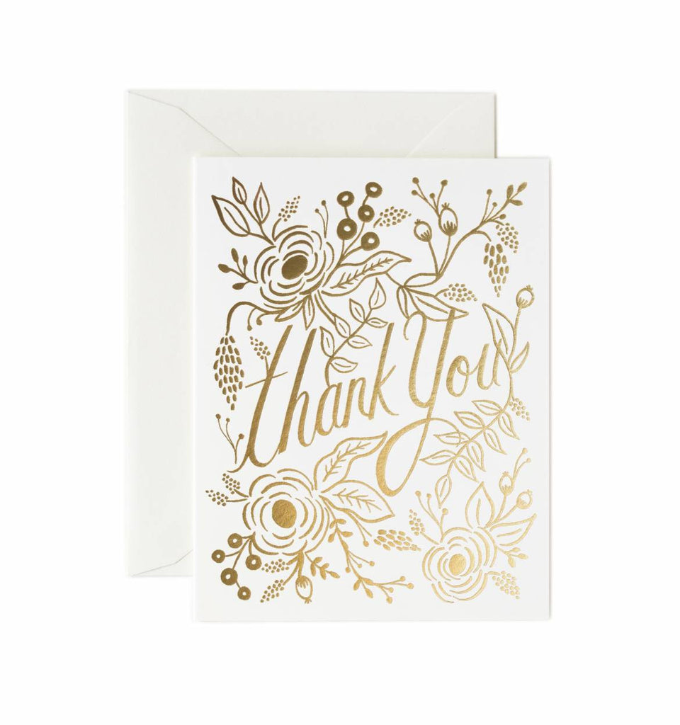 Gold Foil Thank You Card - Planning Pretty