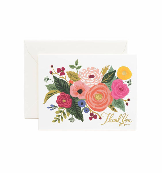 Juliet Rose Thank You Cards Set - Planning Pretty