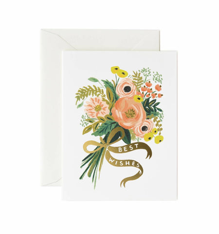 Best Wishes Bouquet Greeting Card by Rifle Paper Co - Planning Pretty