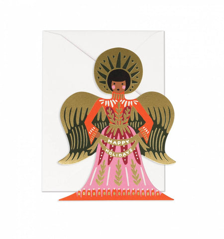 Happy Holidays Angel Card - Planning Pretty