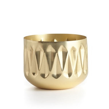 Winter White Radiant Metal Candle - Planning Pretty