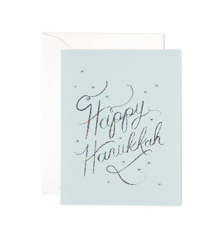 Happy Hanukkah Card - Planning Pretty