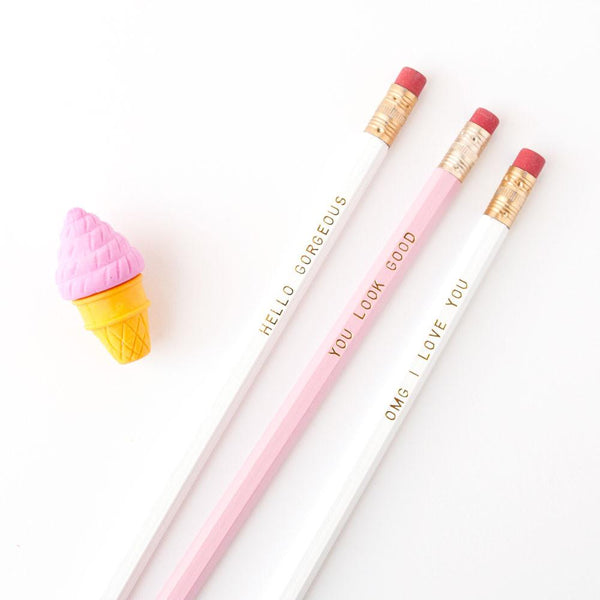OMG I Love You Pencil Set by Graphic Anthology - Planning Pretty