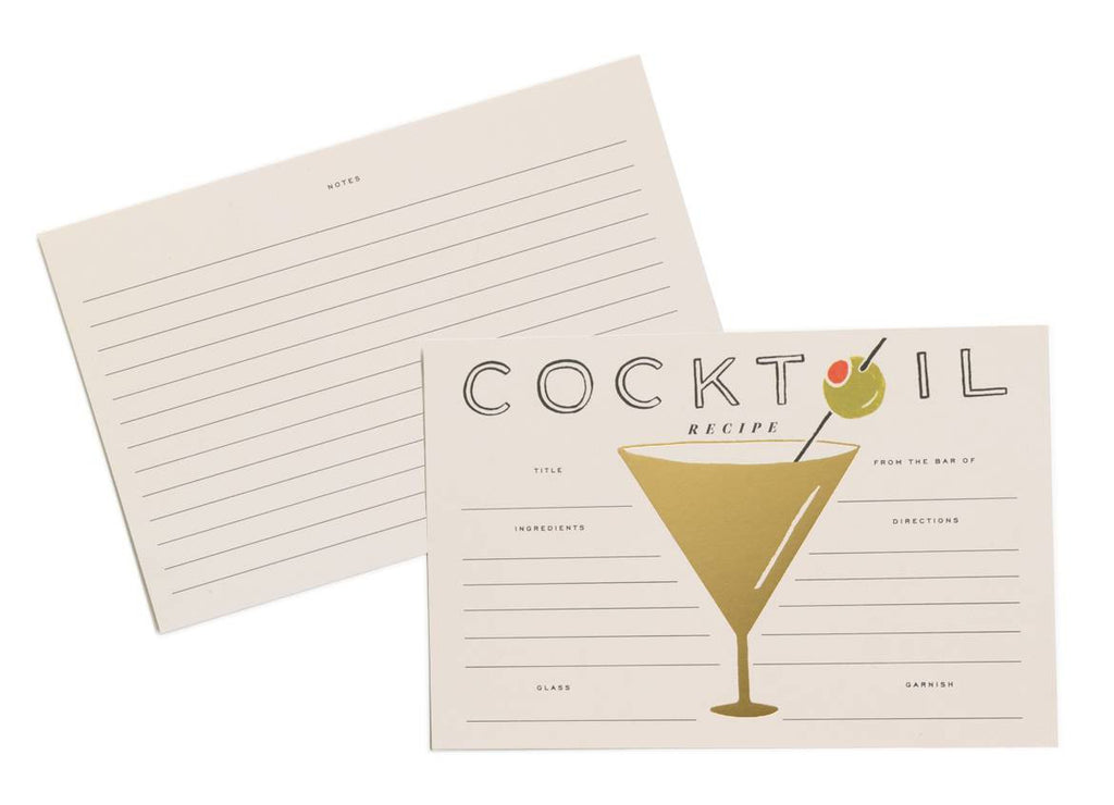 Cocktail Recipe Cards - Planning Pretty