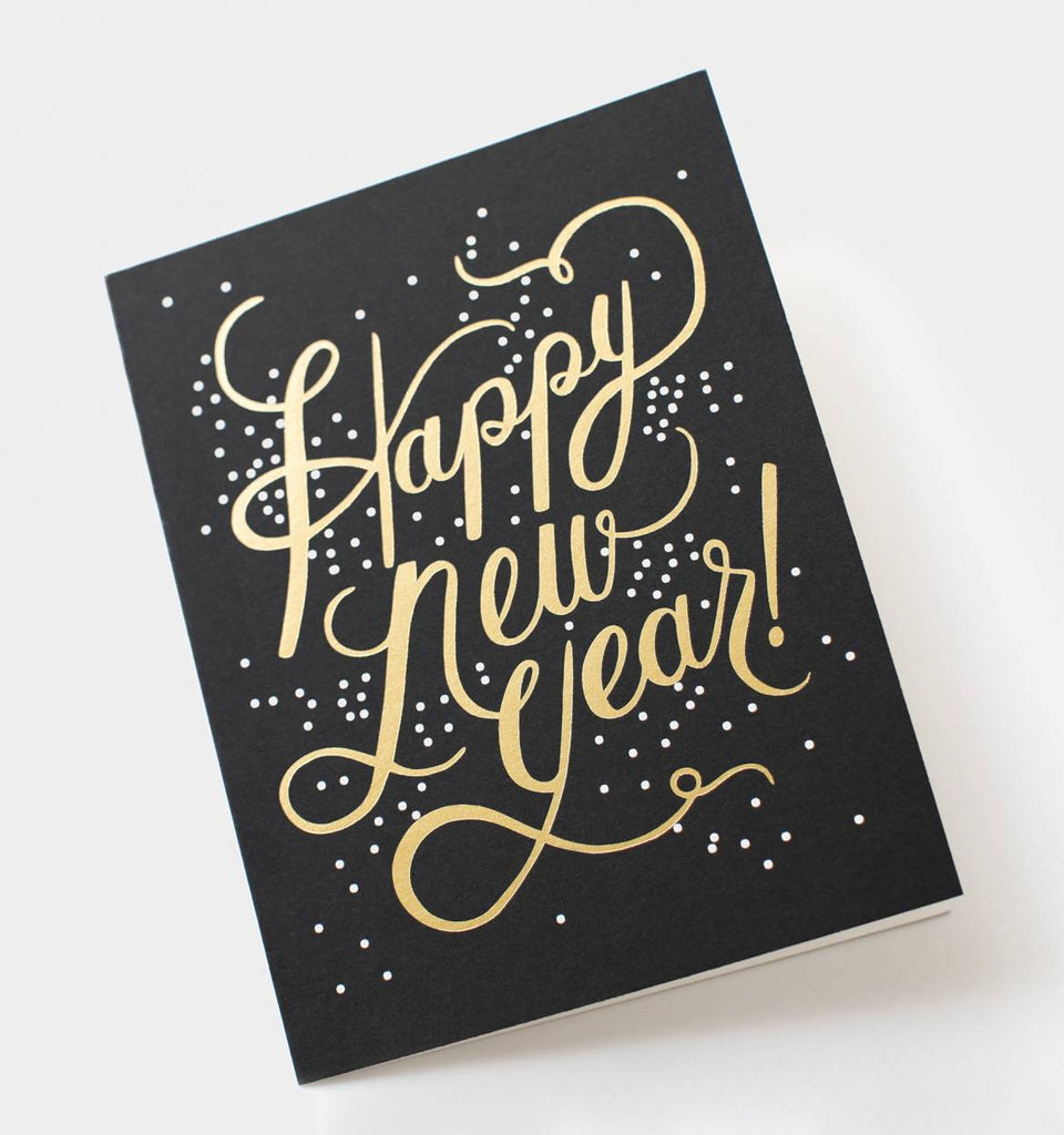 shimmering new year card rifle paper co planning pretty