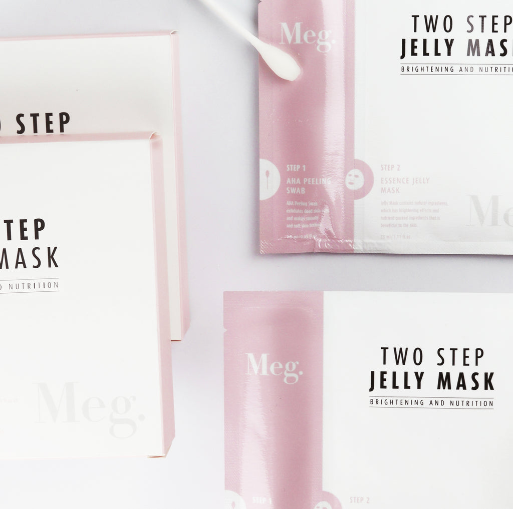 Two Step Jelly Mask - Brightening and Nutrition - Megcosmetics by dpark corporation