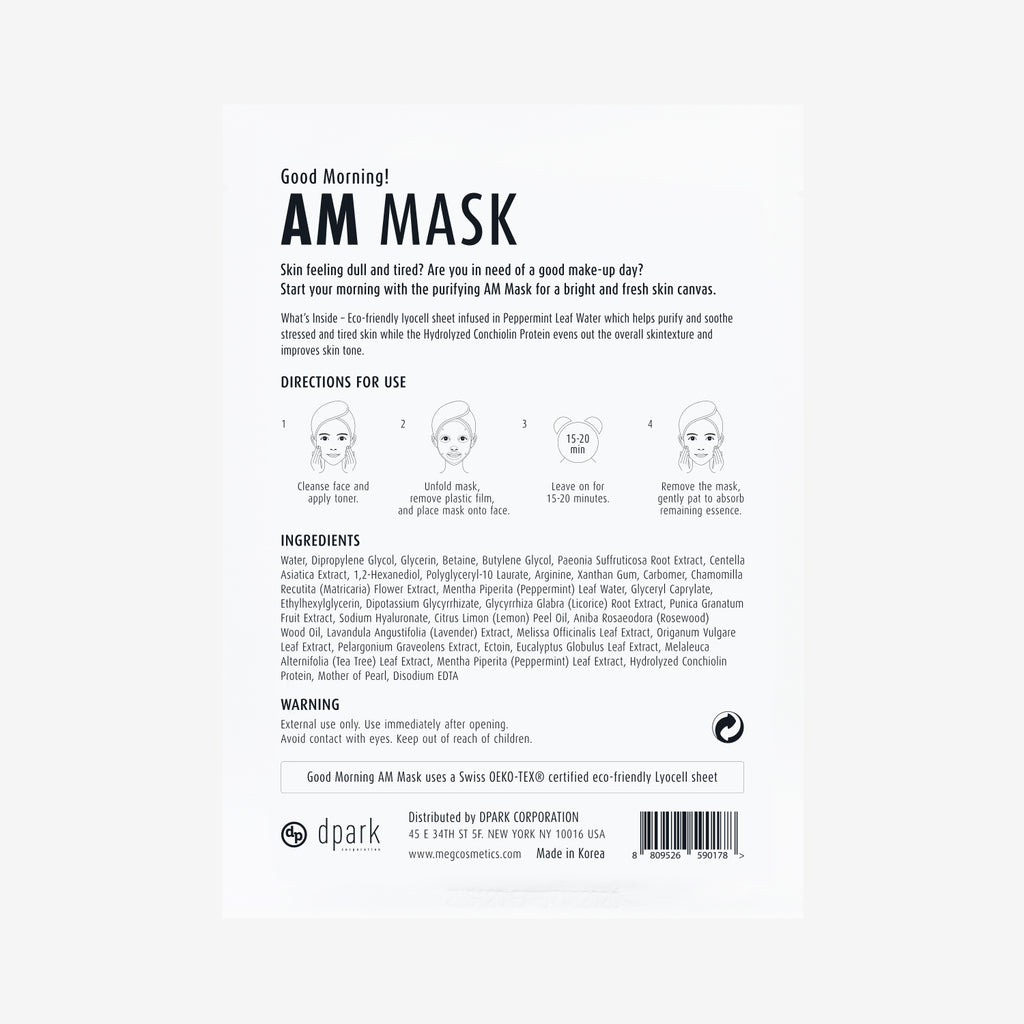 Good Morning AM Mask - Megcosmetics by dpark corporation