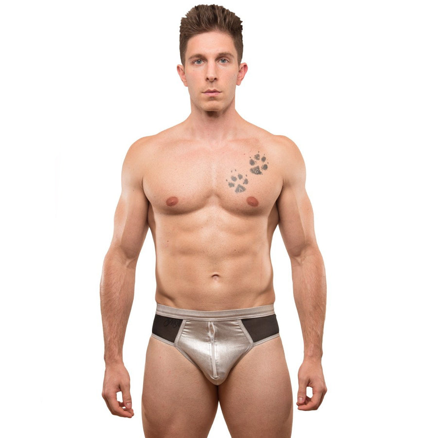 COATED BRIEF WITH ZIPPER