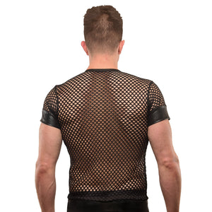 V-NECK FISHNET TEE-SHIRT
