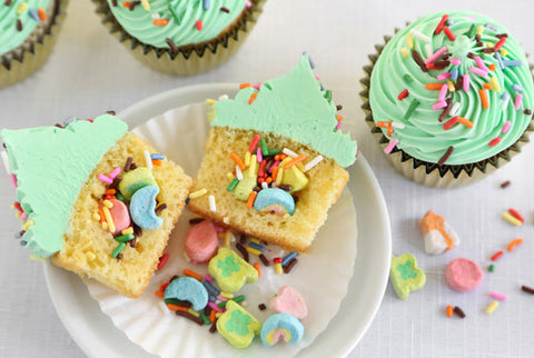 Betty Crocker's Surprise-Inside St. Paddy's Day Cupcakes
