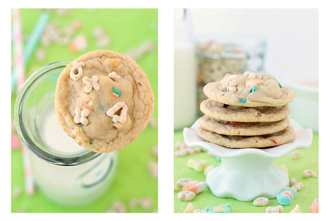 The Recipe Rebel's White Chocolate Lucky Charms Cookies