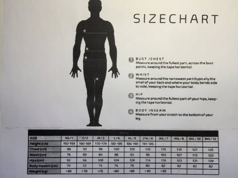 Vermarc Sizing Chart