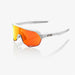 100% S2 Soft Tact Off White Cycling Sunglasses Red Multilayer Mirror+ Clear Lens
