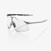 100% Hypercraft Matte Stone Grey Cycling Sunglasses - Coral Lens + Clear Lens100% Hypercraft Matte Stone Grey Cycling Sunglasses - Coral Lens + Clear Lens