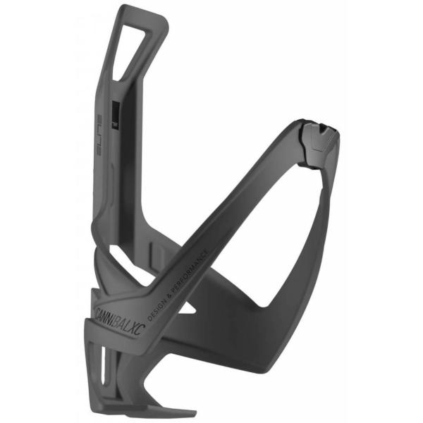 Elite Cannibal XC Bottle Cage, 74mm, Matte Black/Black