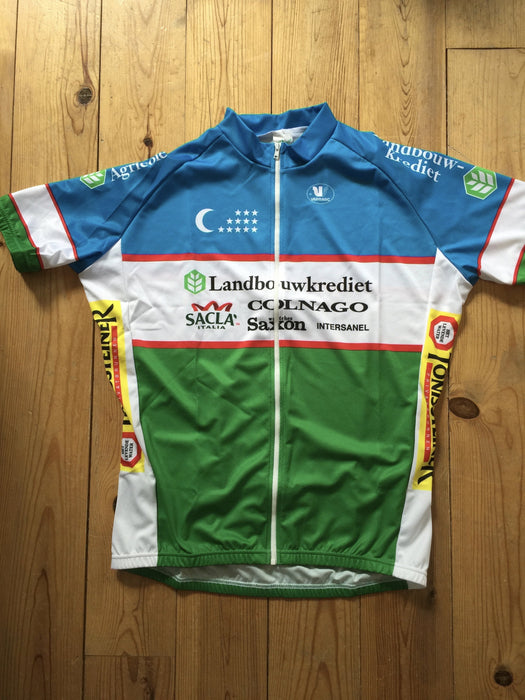 2006 Team Landbouwkrediet Colnago Uzbekistan Champion Cycling Men Jersey