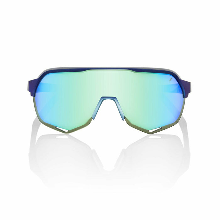 100% S2 Matte Metallic Cycling Sunglasses Belgian Waffle Limited Edition-Blue Topaz Multilayer Mirror