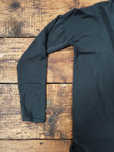 long tencel cardigan with thumb holes in charcoal