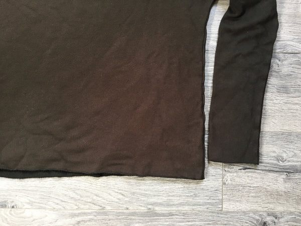cutoff tencel sweatshirt in rusty black one size