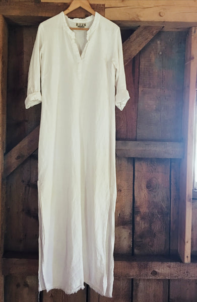 linen market dress in salt