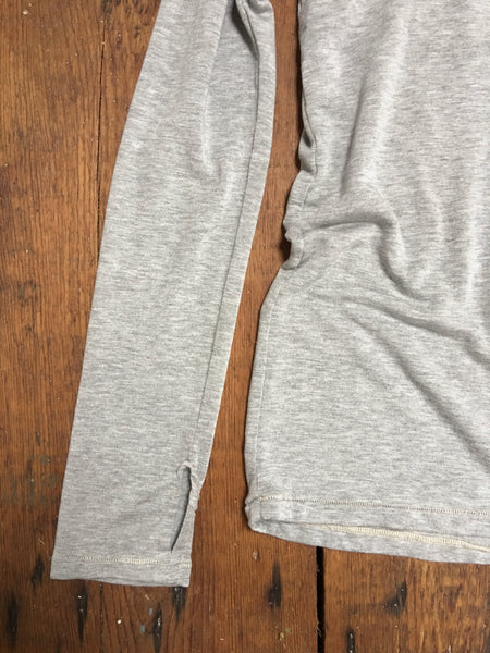 tencel hoody with thumb holes in heather