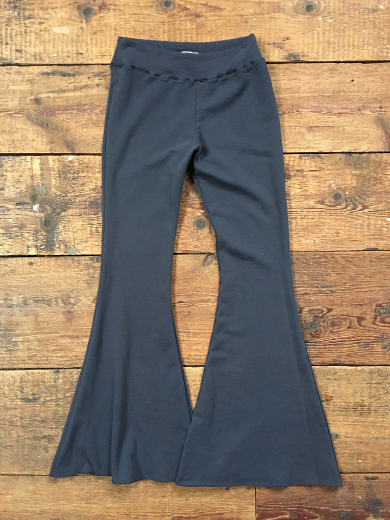 tencel bell bottom yoga pants in midnight