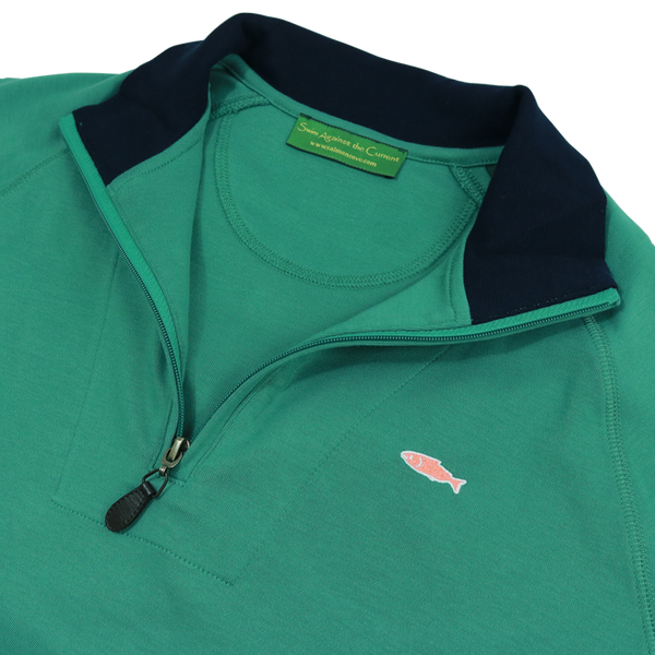 Pullover Half Zip Sweater - Green