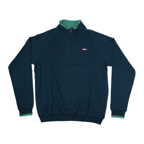Pullover Half Zip Sweater - Navy