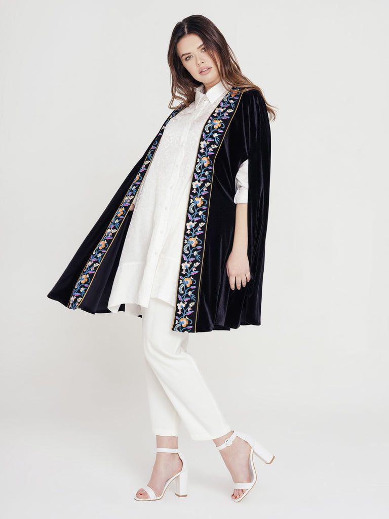 Just My Type Embroidered Cape - Rou Boutique