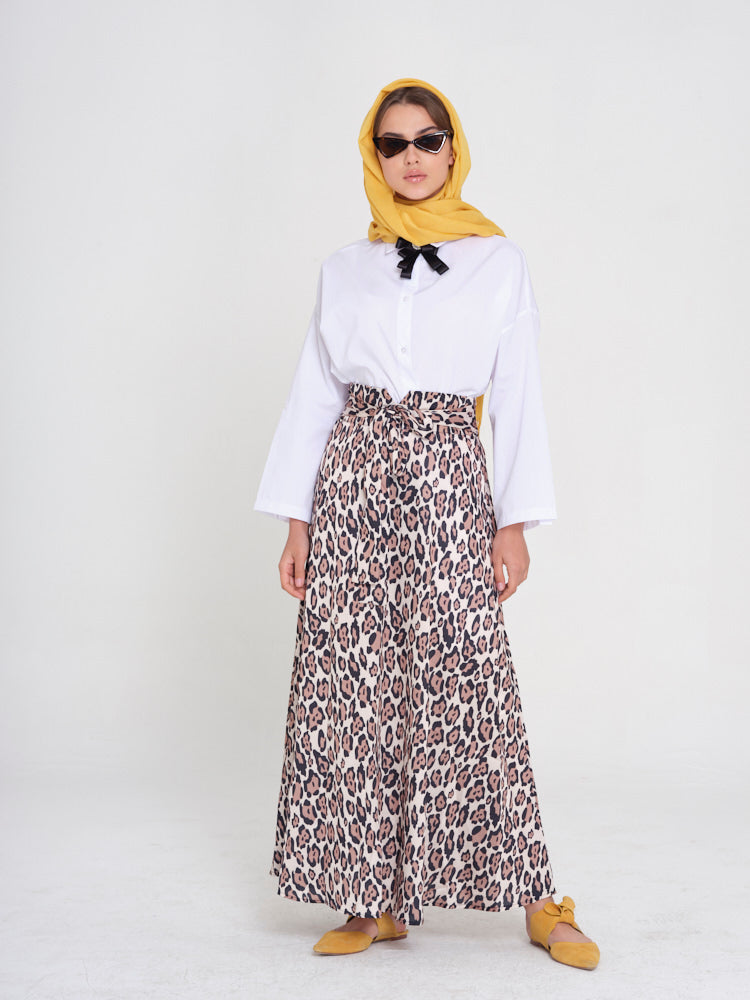 So Fierce Leopard Printed Maxi Skirt - Rou Boutique