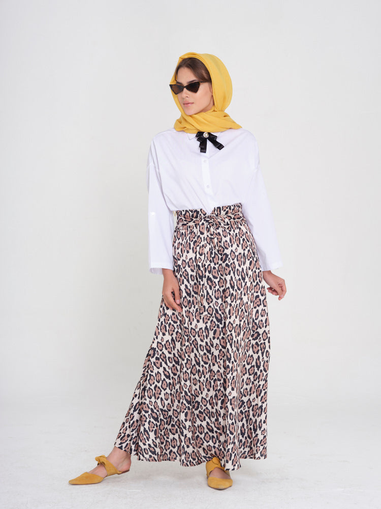 So Fierce Leopard Printed Maxi Skirt