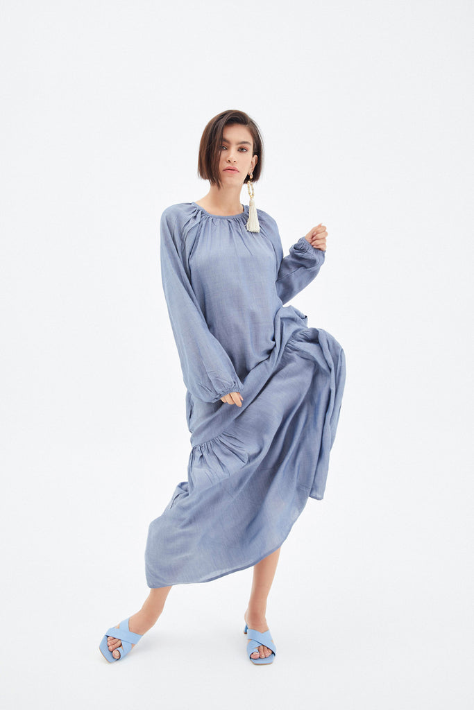 Seychelles Maxi Denim Dress